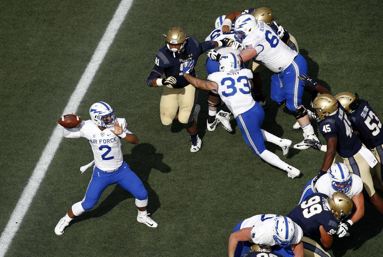 Air Force vs. Navy Football Navy Outlasts Air Force in Football; Keeps Perfect Season Alive