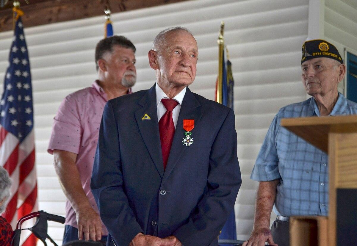 A 94 year old WWII veteran receives top honor from France