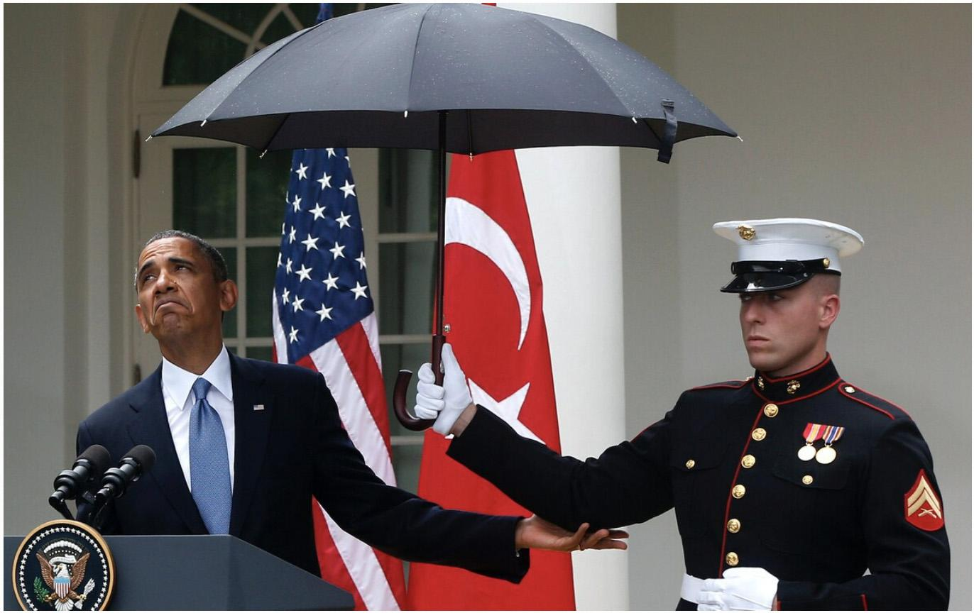 The most dangerous weapon in the world is a Marine and his umbrella — the case for dryness