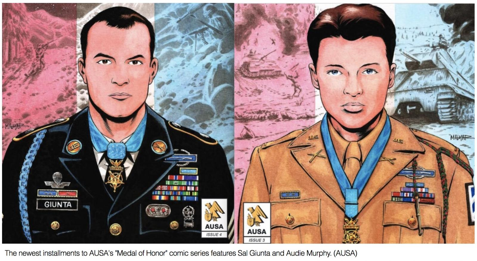 Medal of Honor comic series highlights actions of Audie Murphy and Sal Giunta