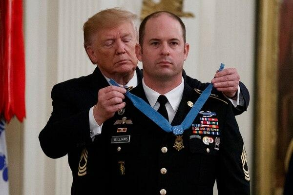 President Trump awards Medal of Honor to Master Sgt. Matthew Williams