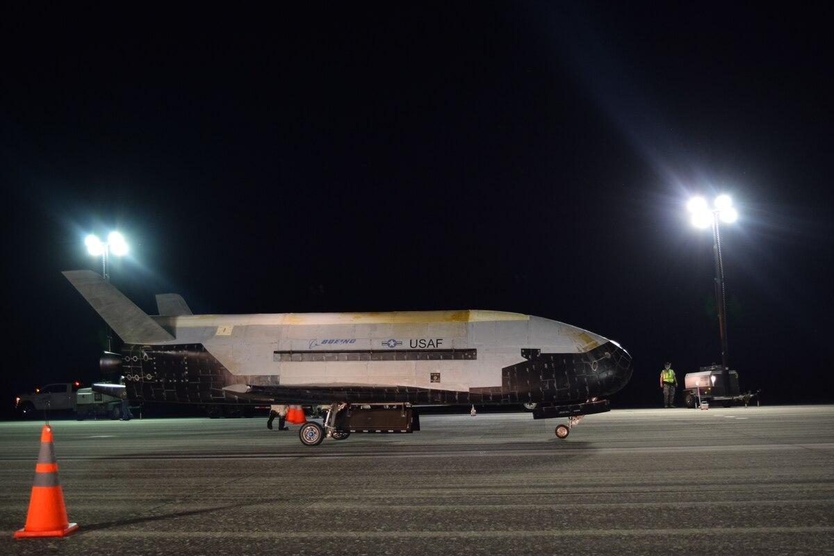 The US Air Forces X-37B spaceplane lands after spending two years in space