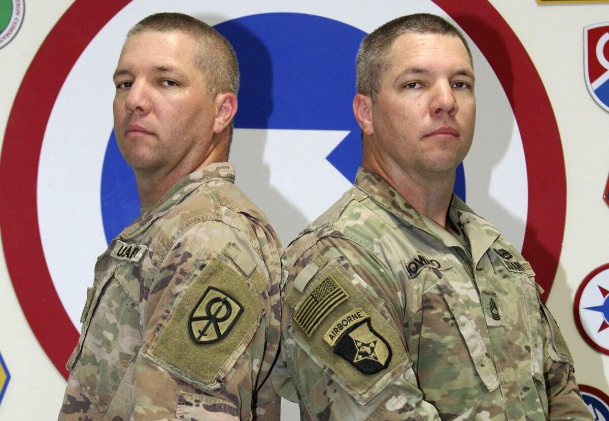 Twin master sergeants deploy together for the 3rd time
