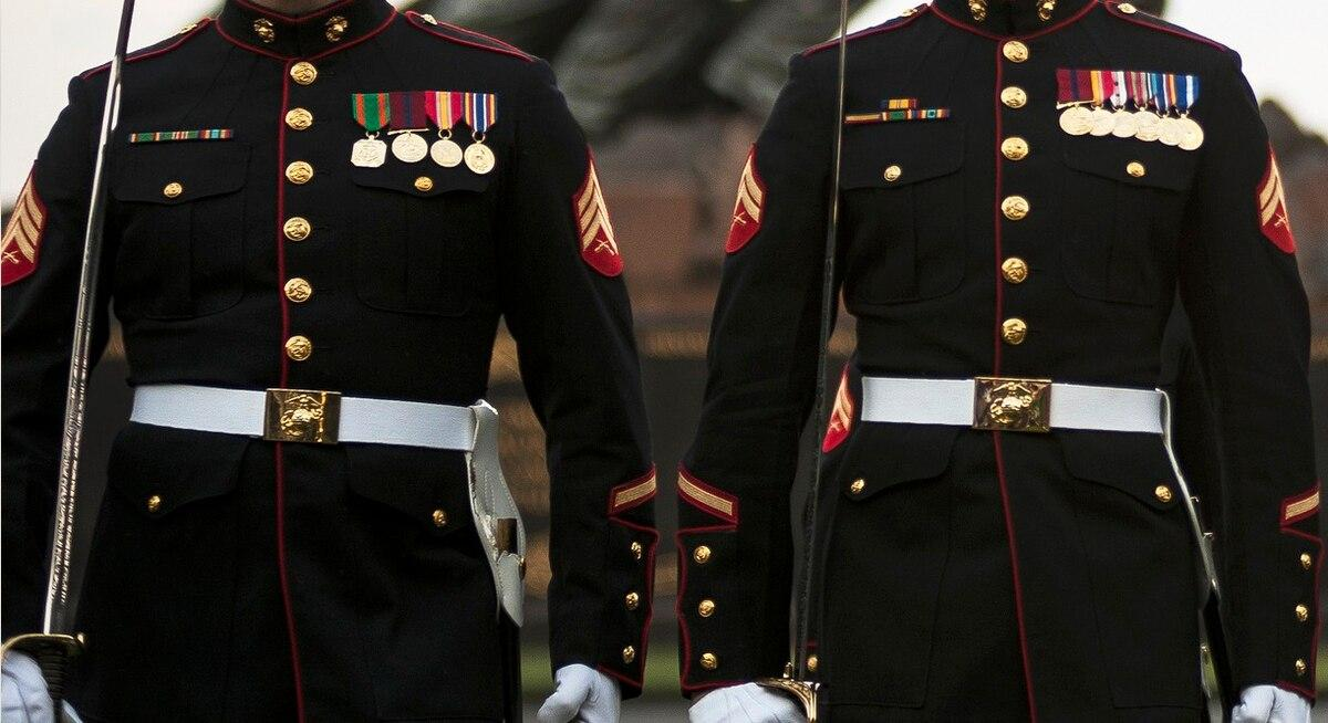 Marine vet donates dress blues and Iwo Jima sand to be buried with veteran killed in hit-and-run