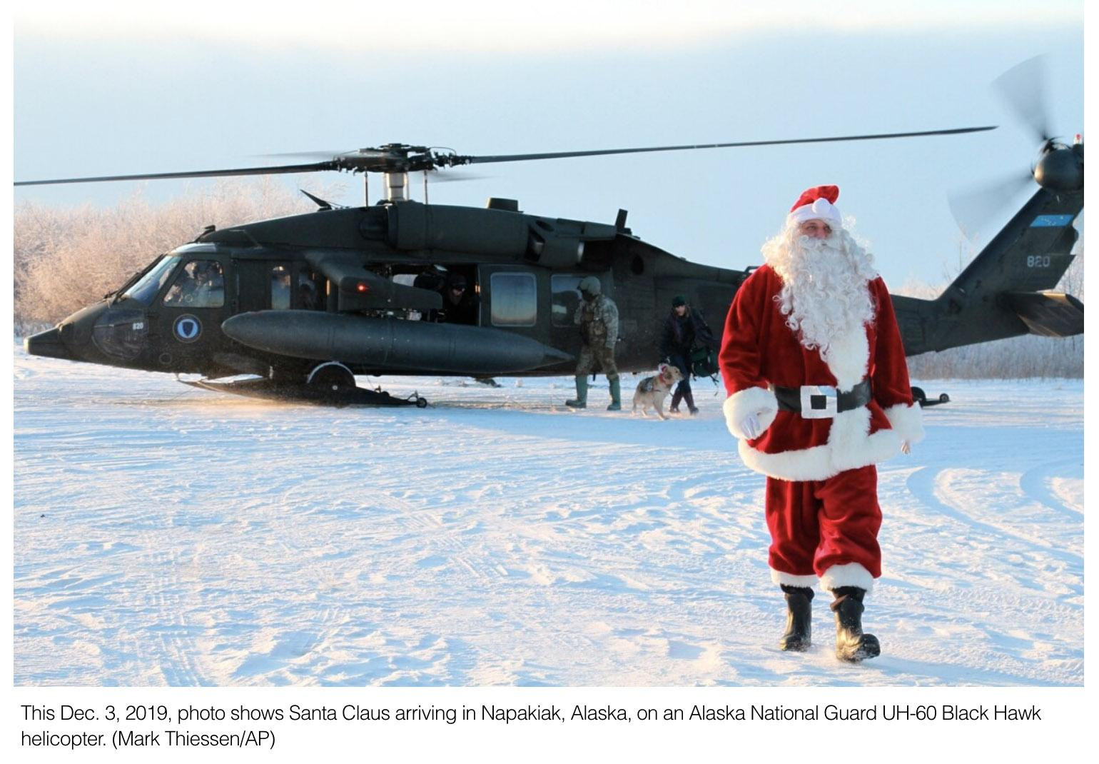Santa, soldiers bring joy to beleaguered Alaska village