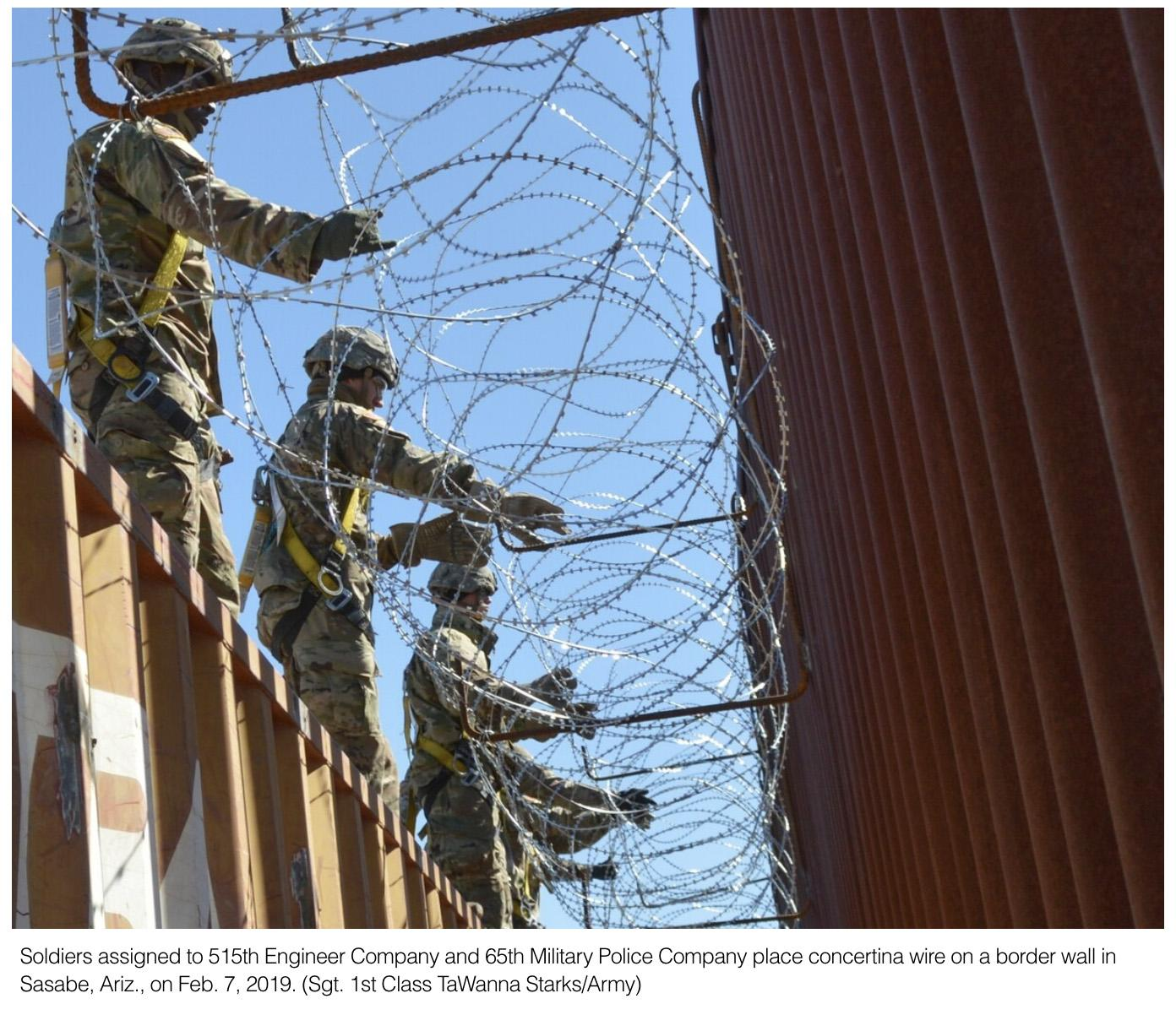 How the border wall work-stop could affect troop deployments