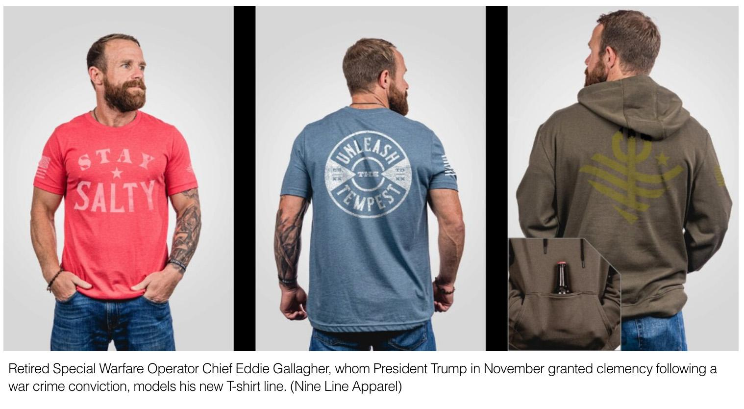 Some veterans salty over Eddie Gallagher's new clothing line