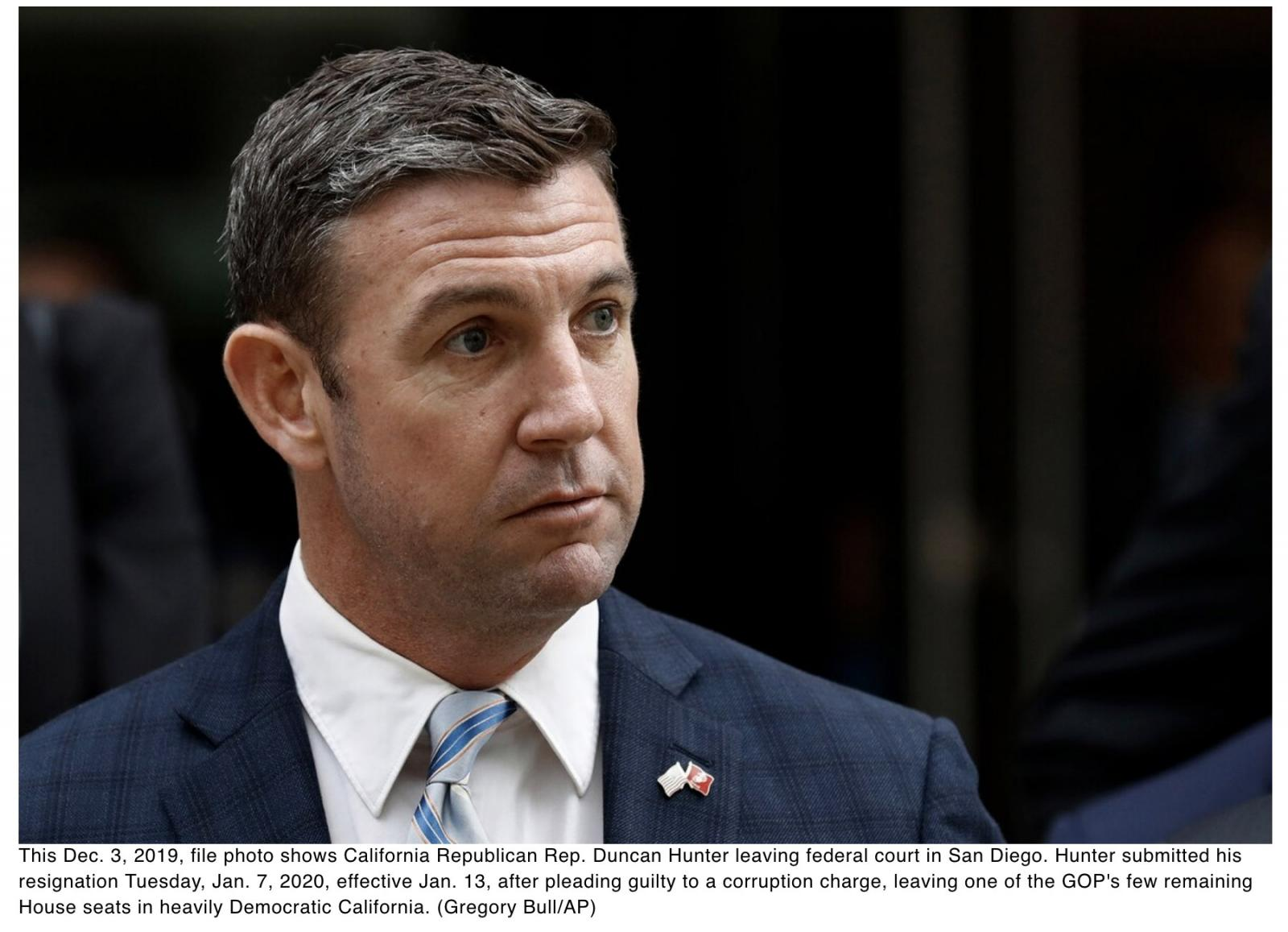 Marine vet Duncan Hunter resigns from Congress after corruption conviction