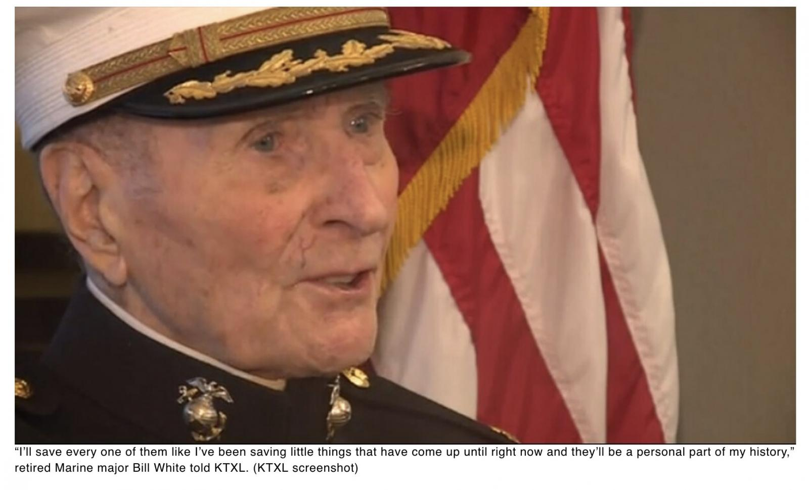 Valentines wanted: 104-year-old Iwo Jima Marine veteran wants one thing this Valentines Day