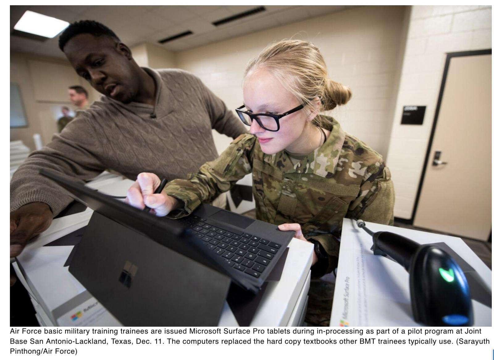 Air Force hopes tablets could revolutionize basic training