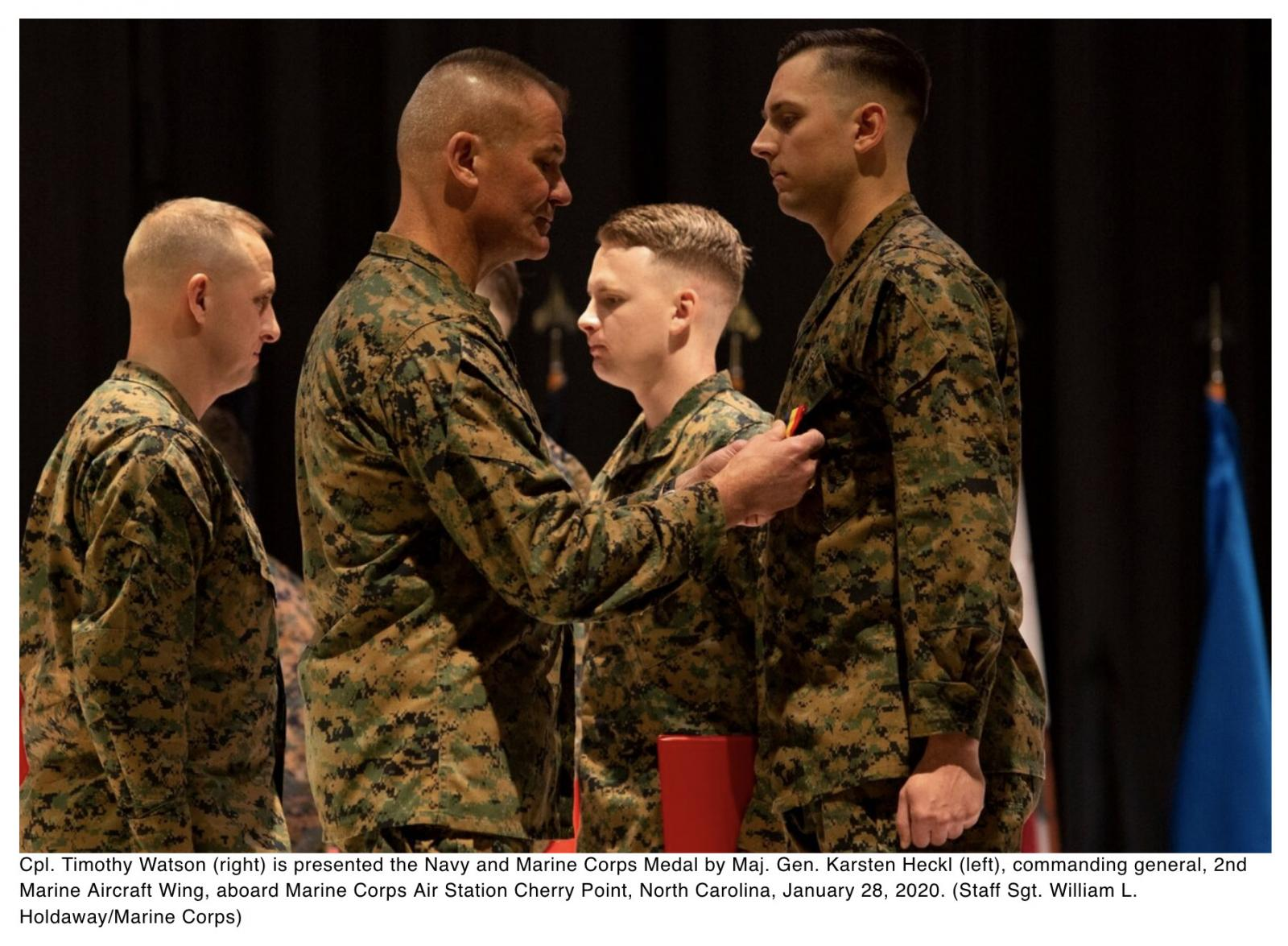 Four Marines receive rare medal for rescuing drowning mother, daughters