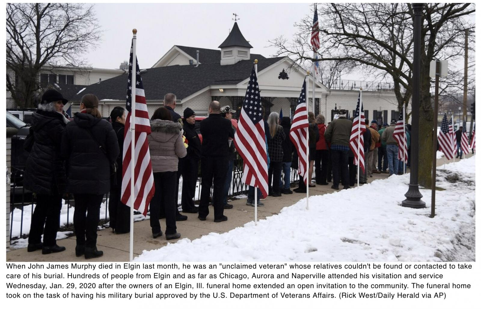 Hundreds attend Illinois funeral for Air Force veteran with no known relatives