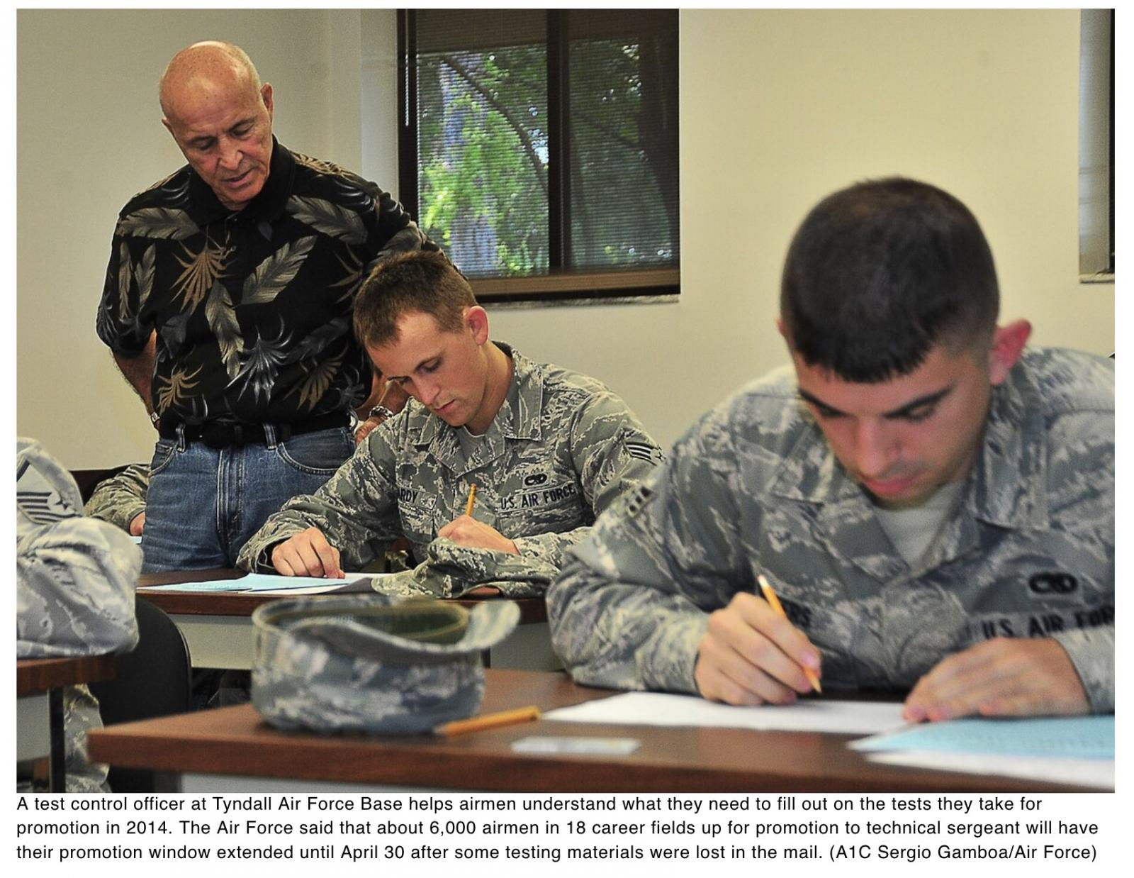 Tech sergeant promotion tests lost in mail; AFPC extends window for affected airmen