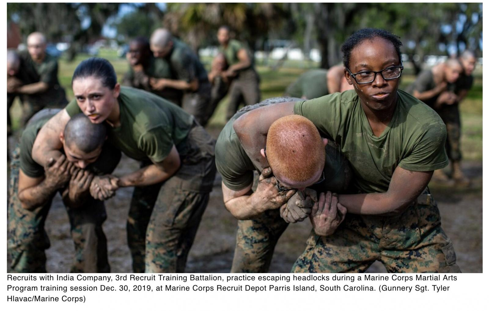 Marine uses wrestling past to train martial arts teachers