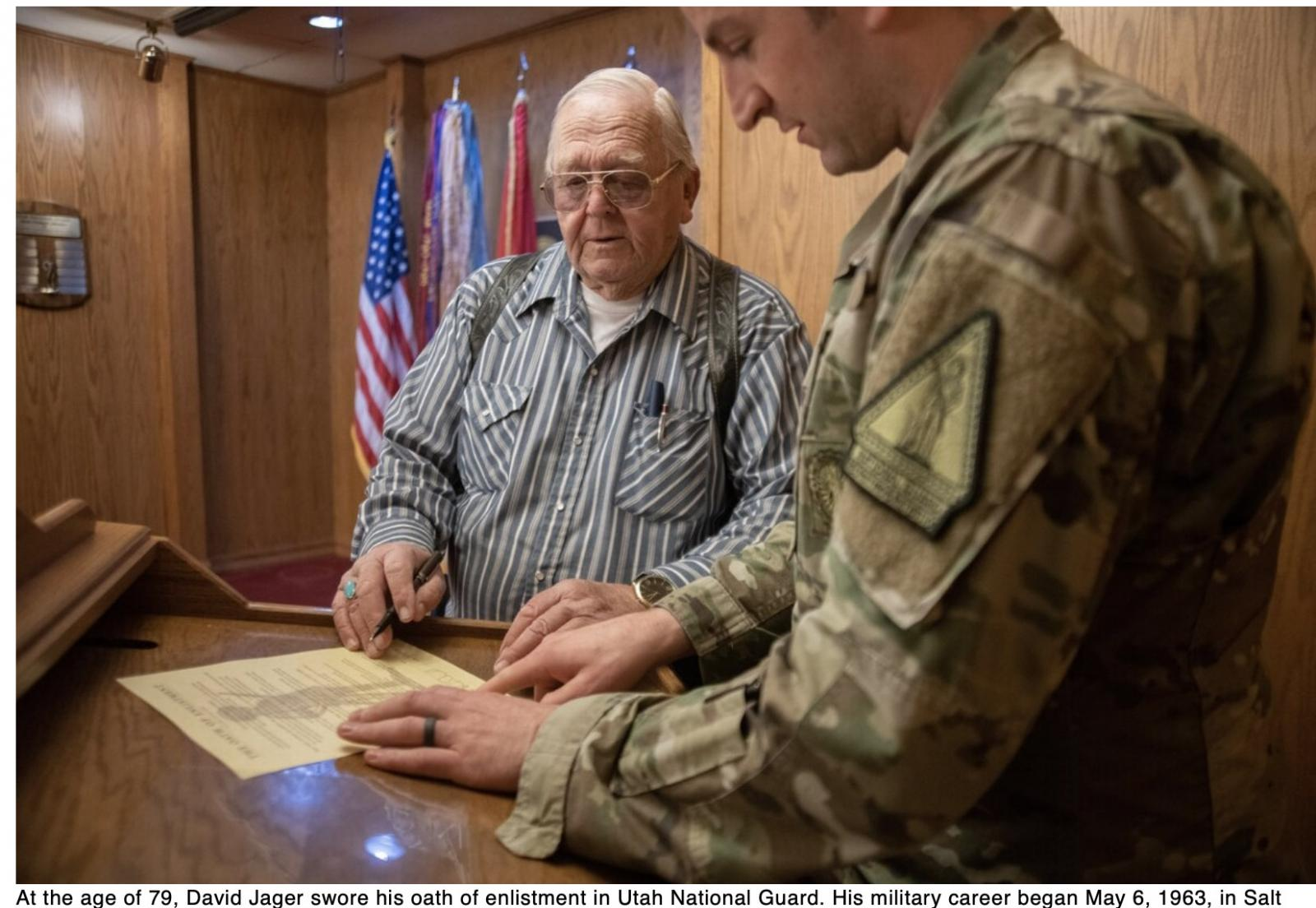 Your Army This 79-year-old Utah man just swore his Army enlistment oath