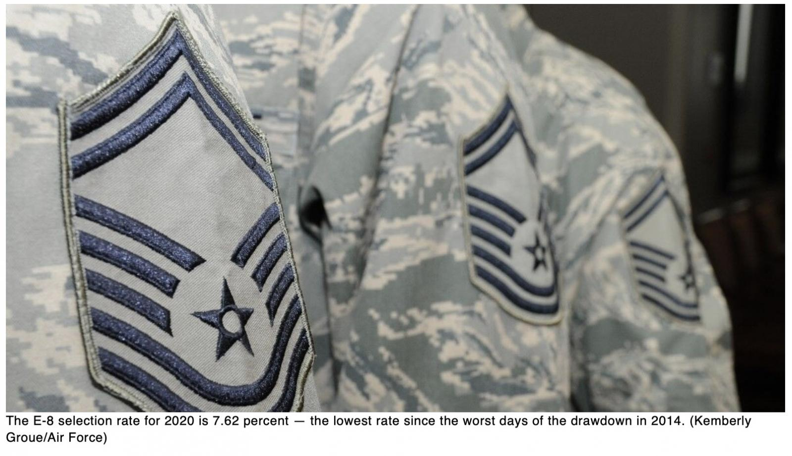 Senior master sergeant promotions plunge this year