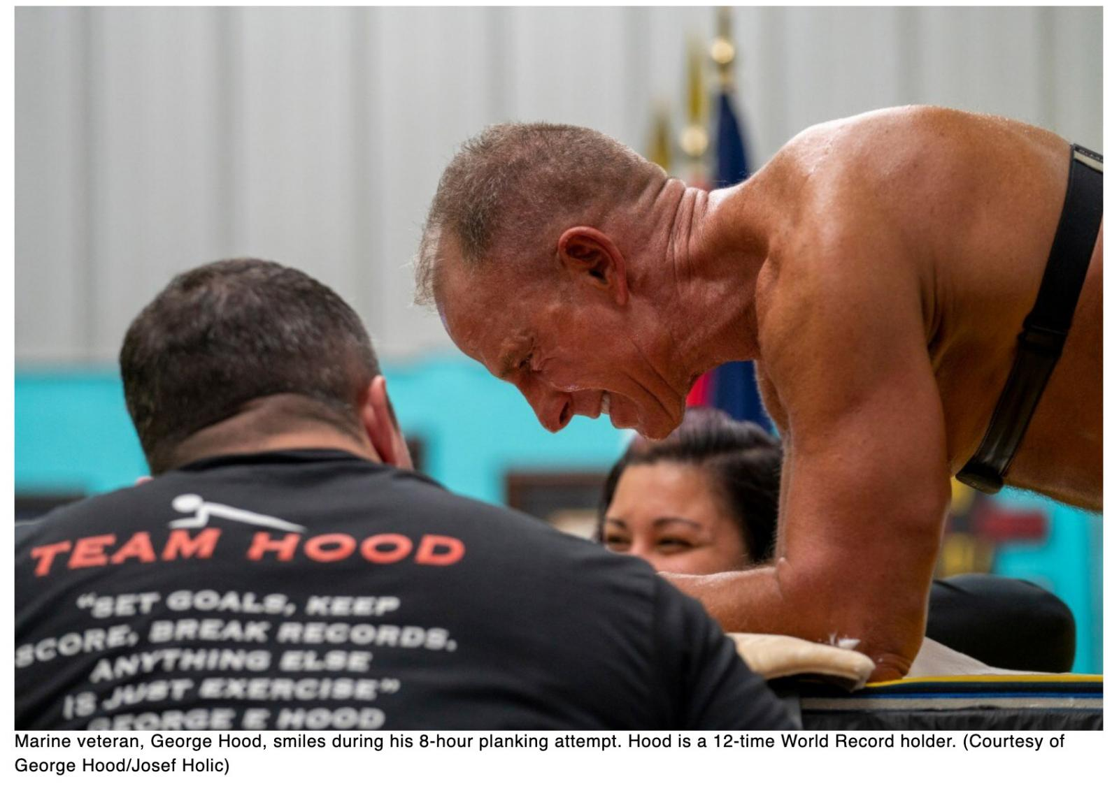 At 62, Marine veteran sets the Guinness record with 8-plus hour plank