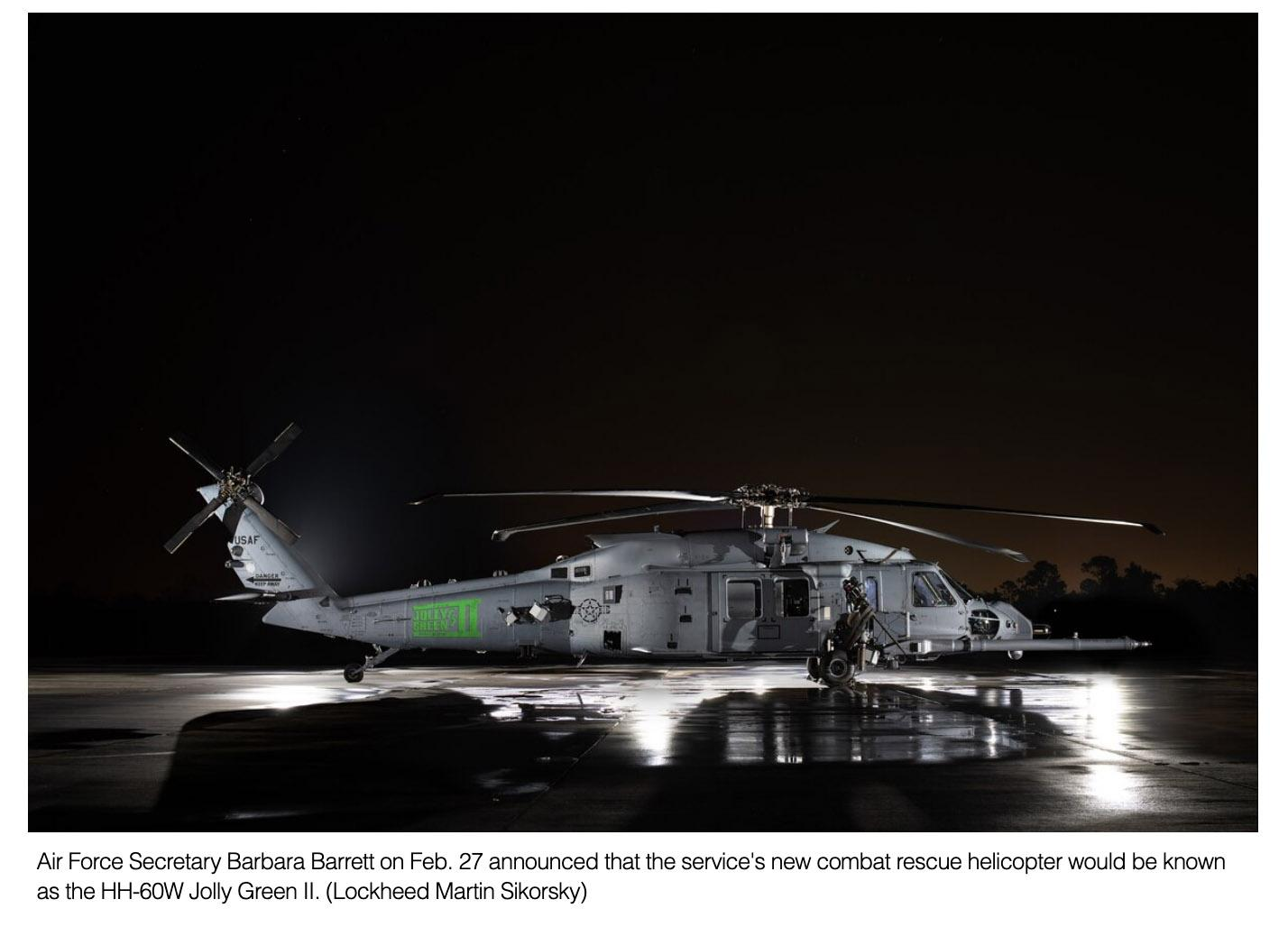 Ho, ho, ho, here's the name of the Air Force's combat rescue helicopter