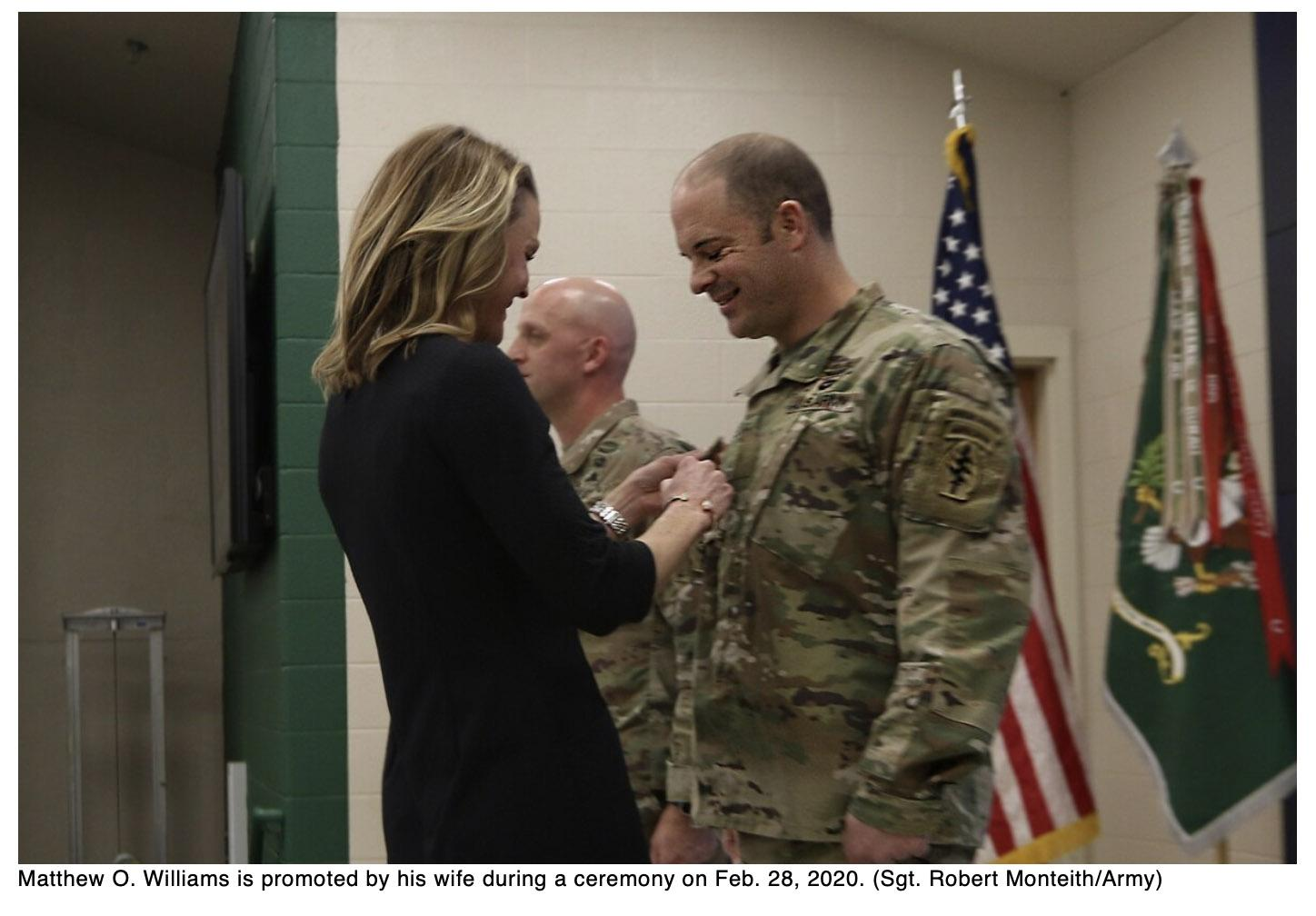 Medal of Honor recipient promoted to sergeant major