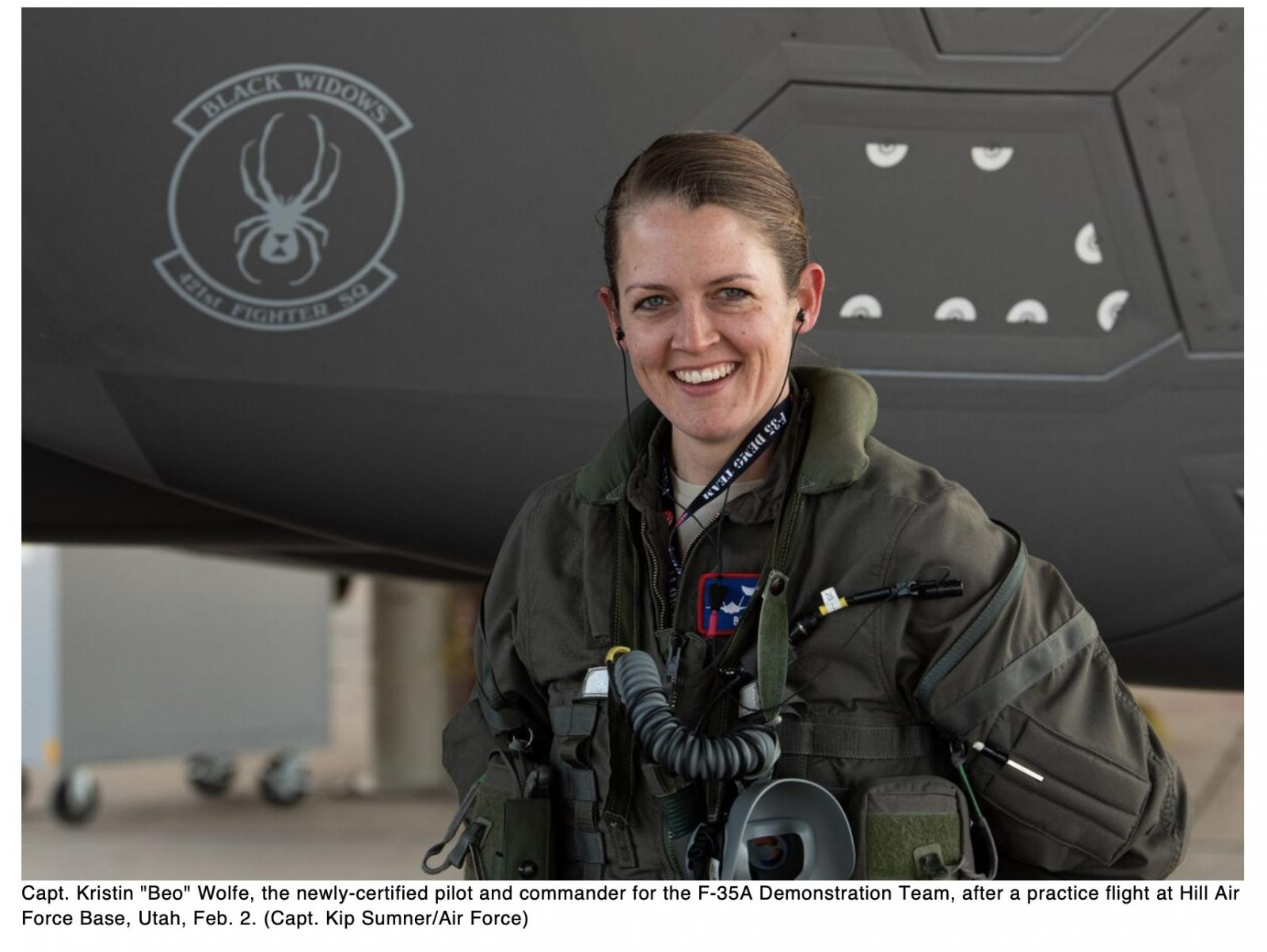 Meet the Air Forces first female F-35 demonstration team pilot