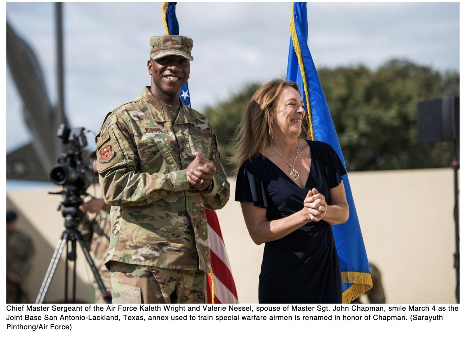 Special warfare training annex renamed for Medal of Honor recipient Chapman