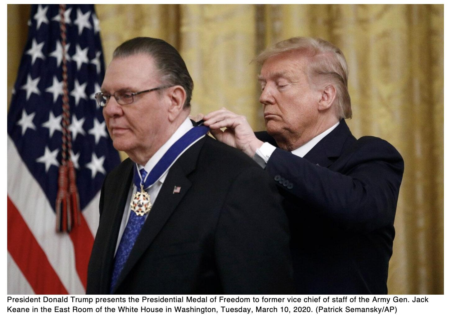 Trump presents Medal of Freedom to retired four-star general