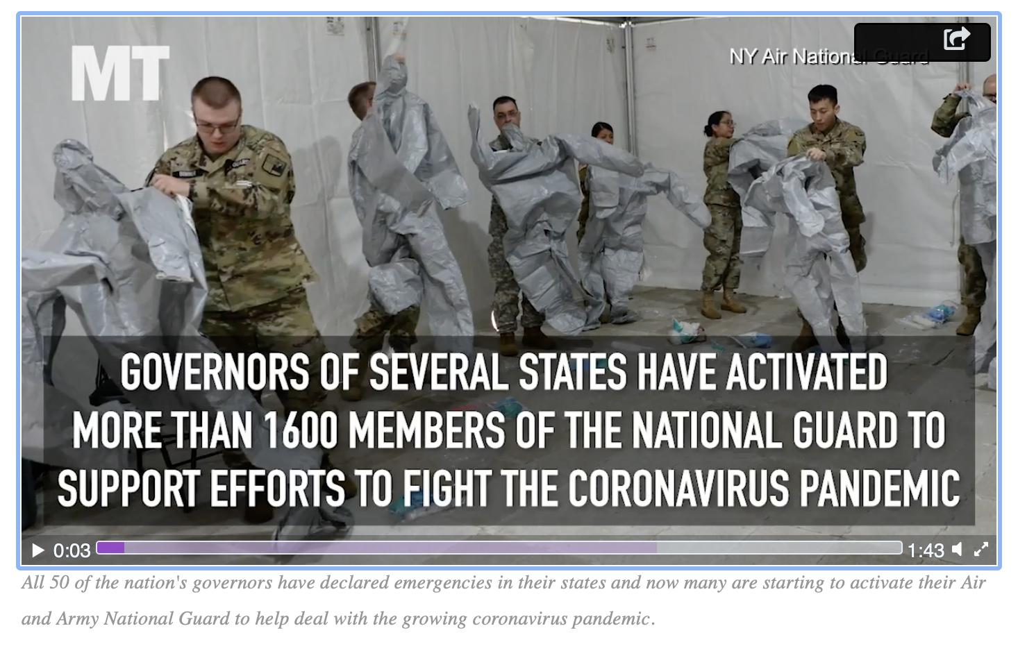 National Guard COVID-19 update: Troop level at more than 46,500, 86 percent on Title 32 orders