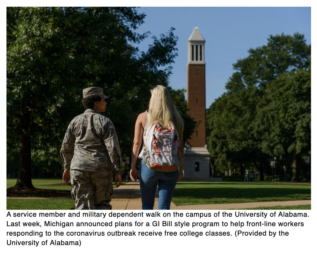 Michigan copies GI Bill benefits for civilians as calls increase for expanding the program beyond the military