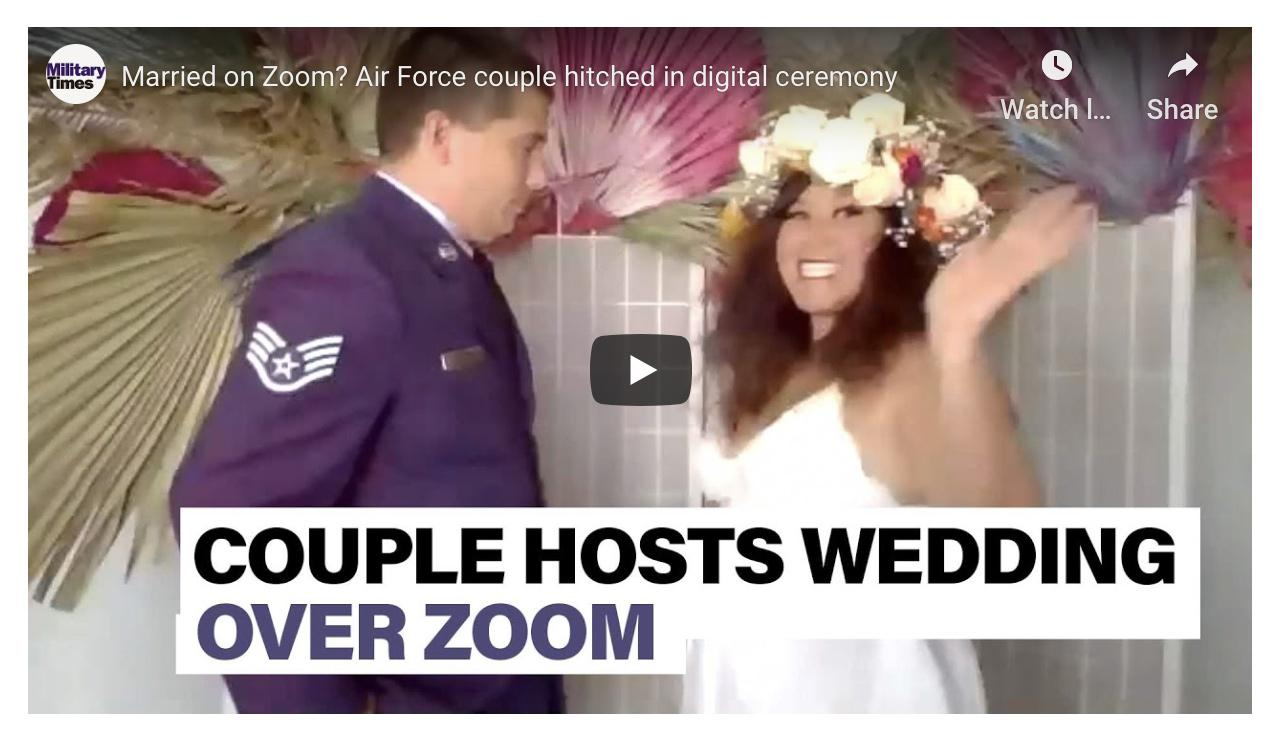 Watch this Air Force couple use Zoom to celebrate their wedding