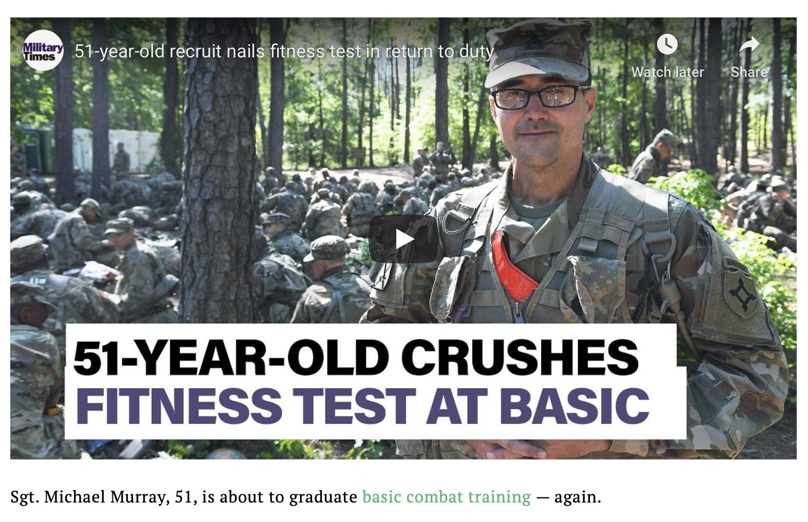 51-year-old crushes ACFT, readies for BCT graduation and EOD school