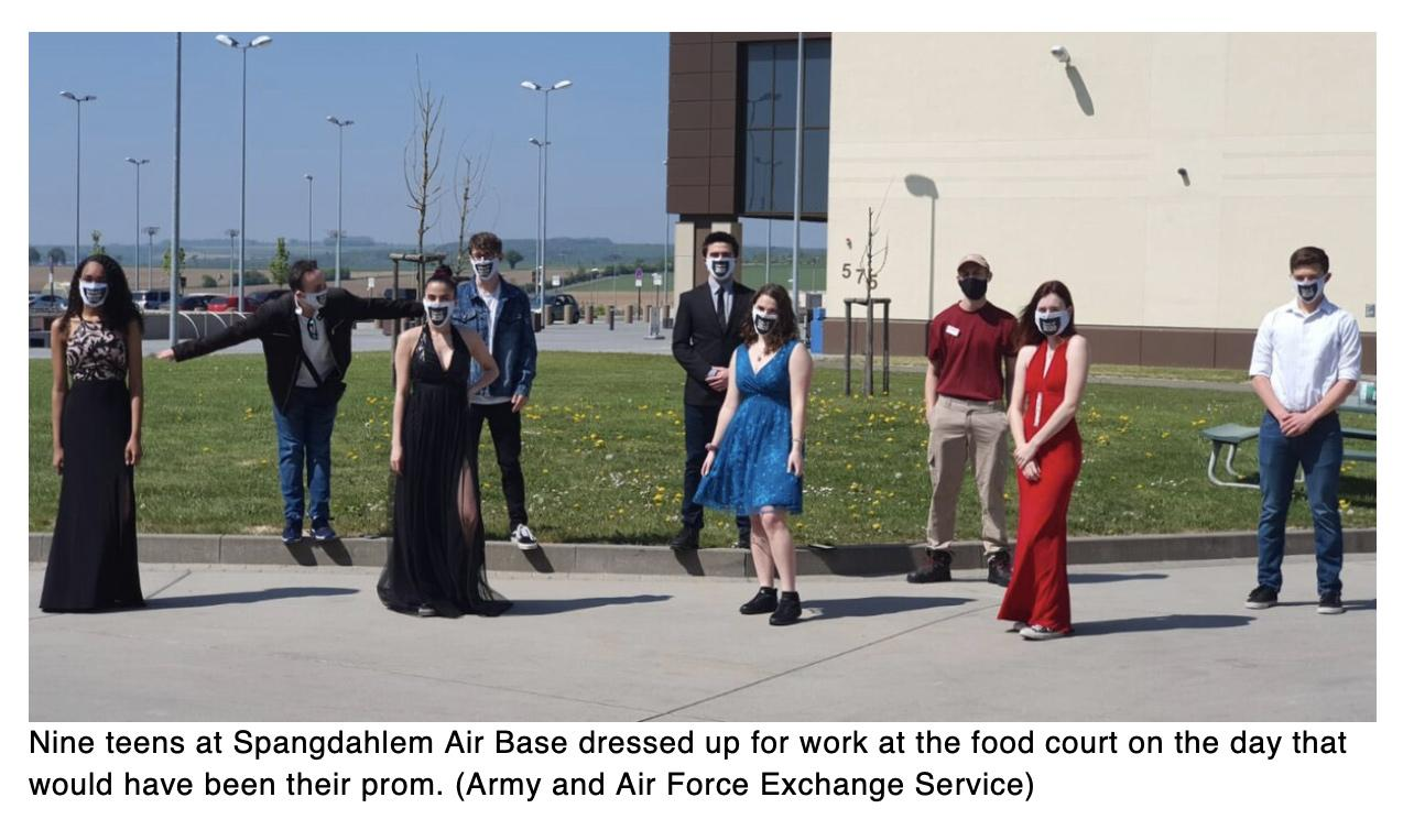 How these military teens celebrated their prom (sort of) at an exchange food court