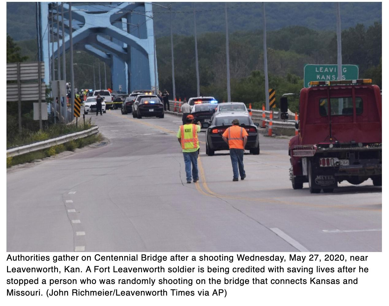 Police: Fort Leavenworth soldier saved lives by stopping shooter on bridge