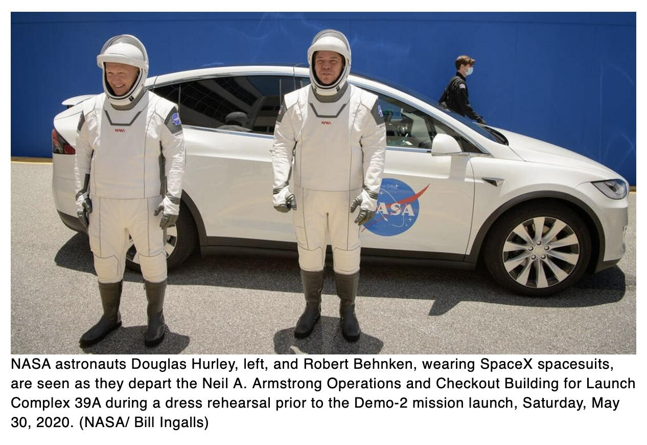 Weather forces scrub of Crew Dragon launch with two former military test pilots aboard