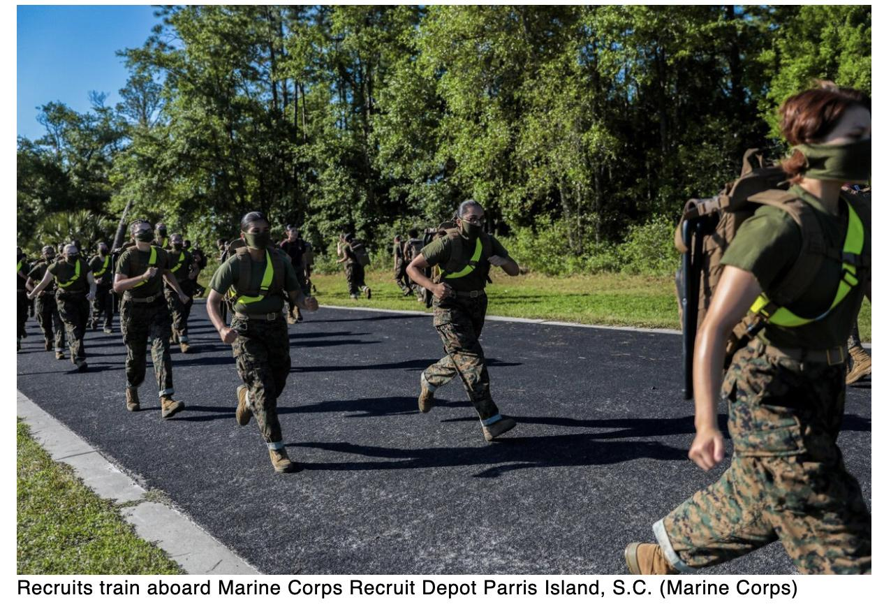 Marine recruits helping provide insight into COVID-19