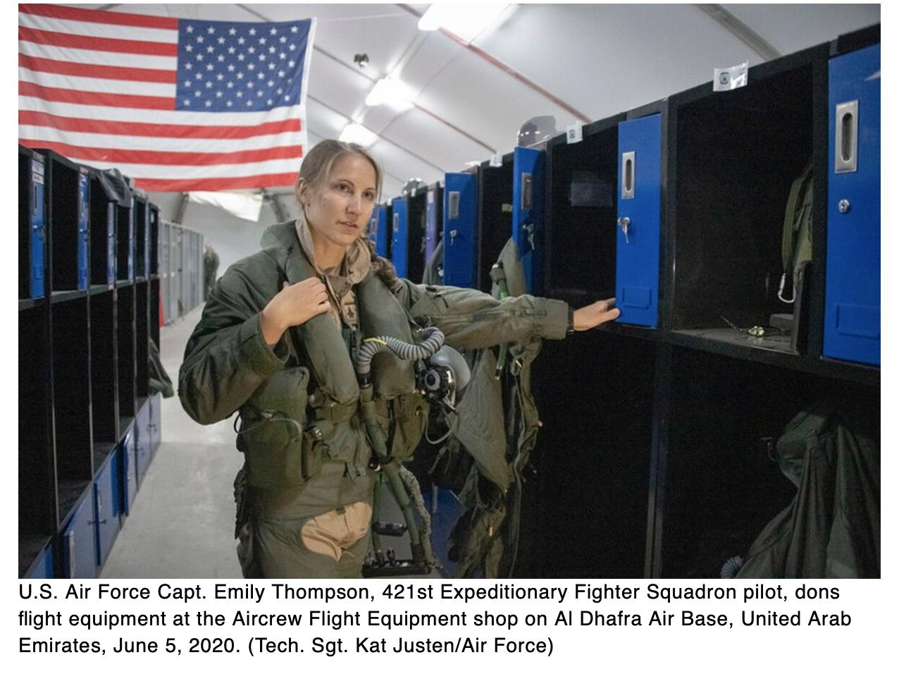 This Air Force pilot is the first woman to fly the F-35 in combat