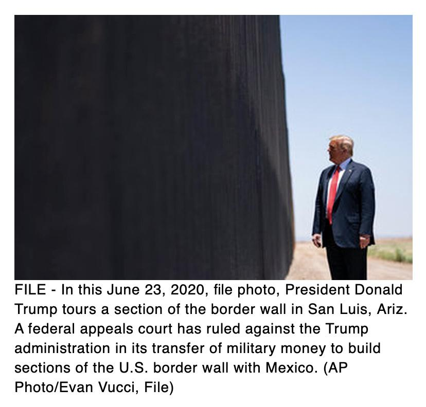 Trump wrongly diverted $2.5 billion in military construction funds for border wall