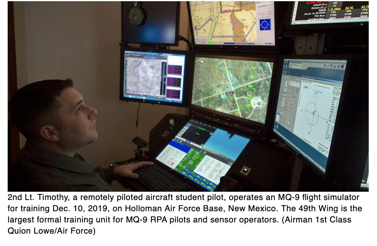 Air Force doesnt have enough drone pilots or sensor operators says GAO