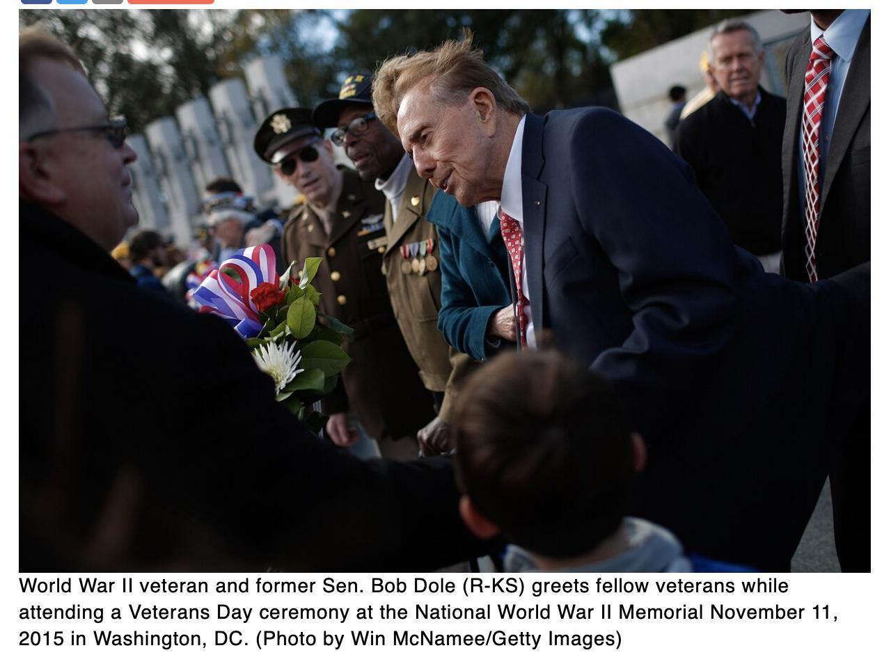 Help World War II hero and former Sen. Bob Dole celebrate his 97th birthday
