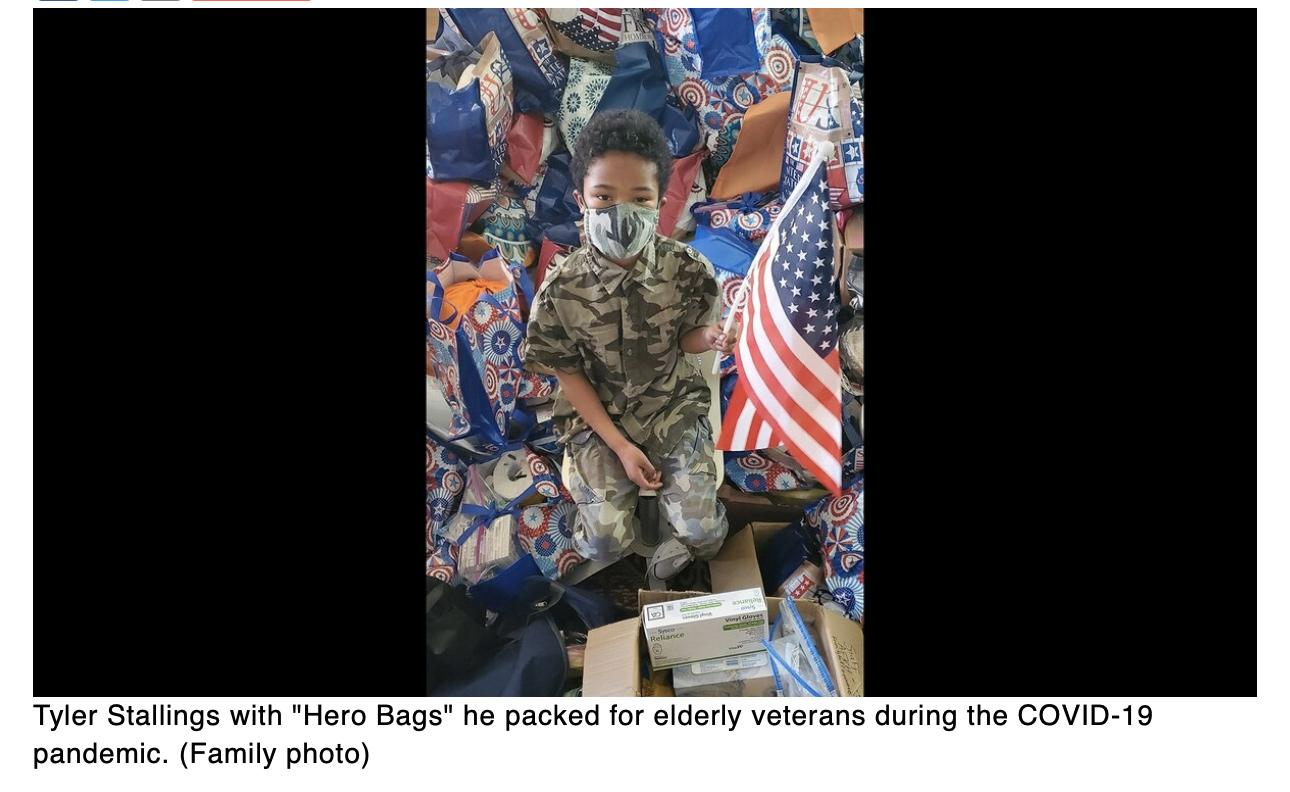 Meet the 8-year-old who raised about $100,000 to help veterans and their families