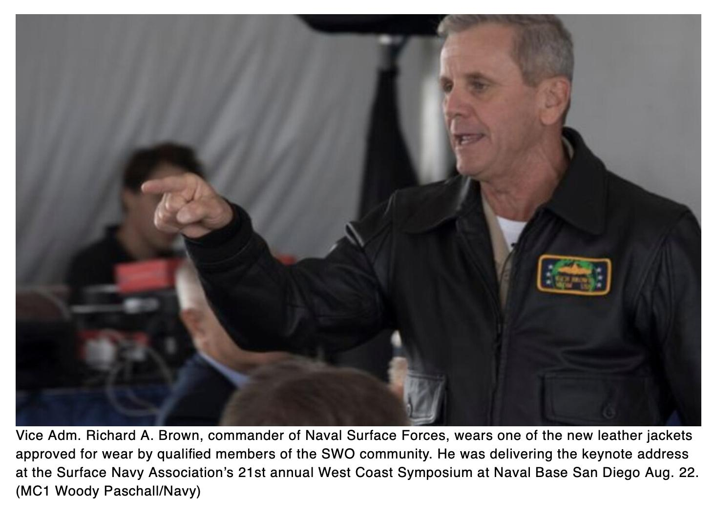 Surface warfare officers: Order your leather jackets now!