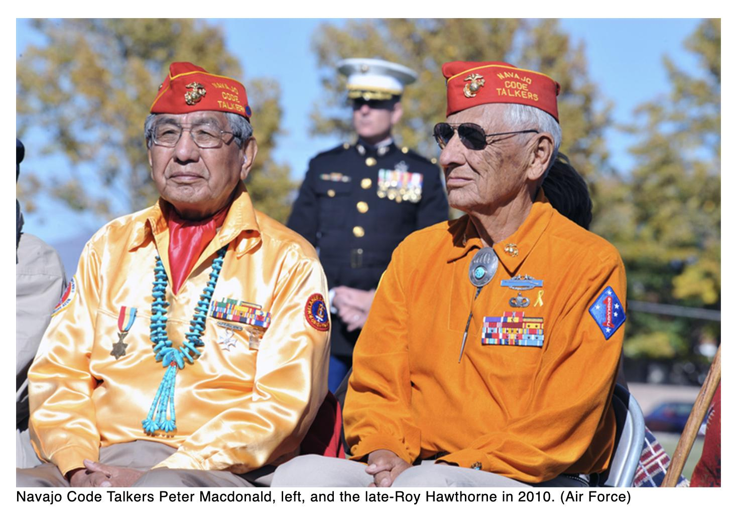 Navajo Code Talkers honored in virtual ceremony