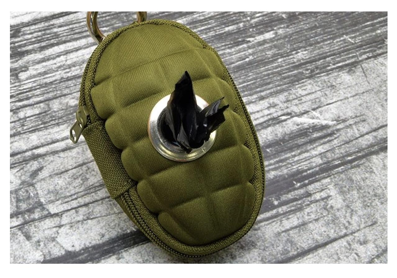 Grenade doggy bag dispenser pulls the pin on your average pooper scooper