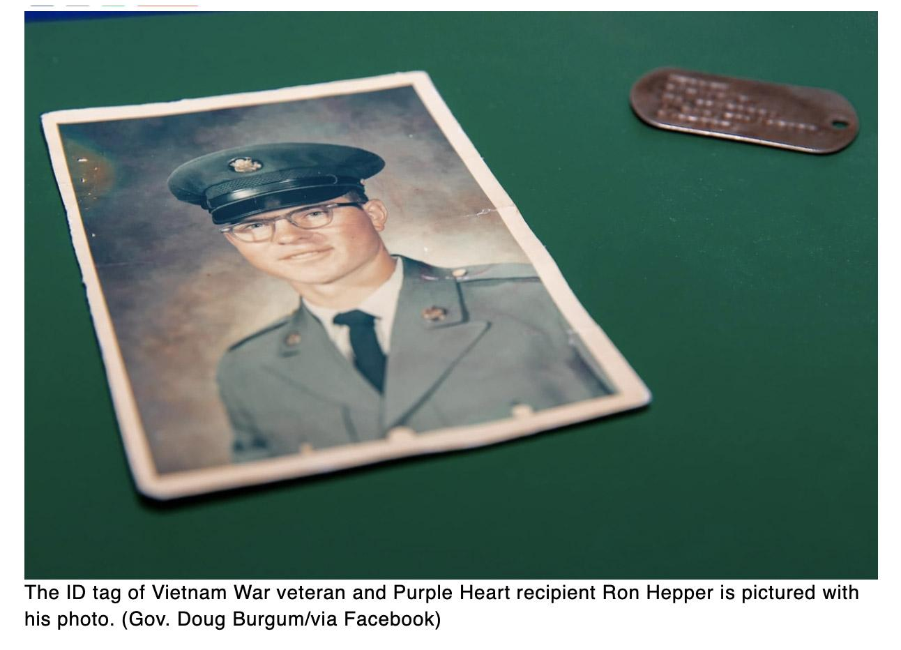 Vietnam veterans long-lost military ID tag returned to his widow