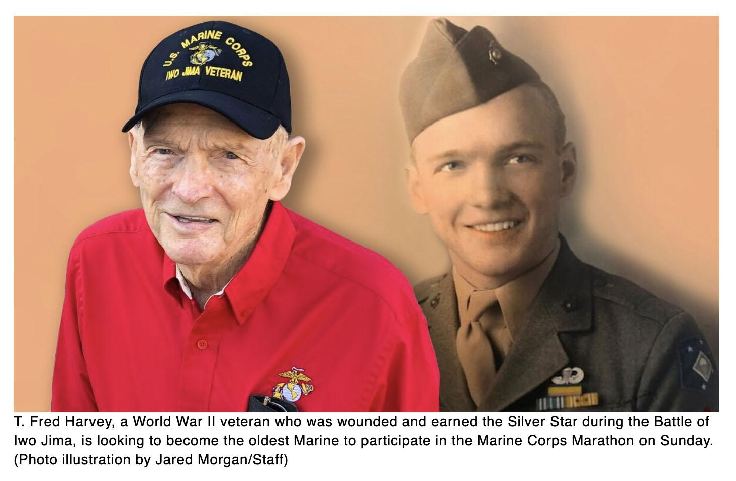 97-year-old Silver Star Iwo Jima veteran to be oldest Marine participant in Marine Corps Marathon