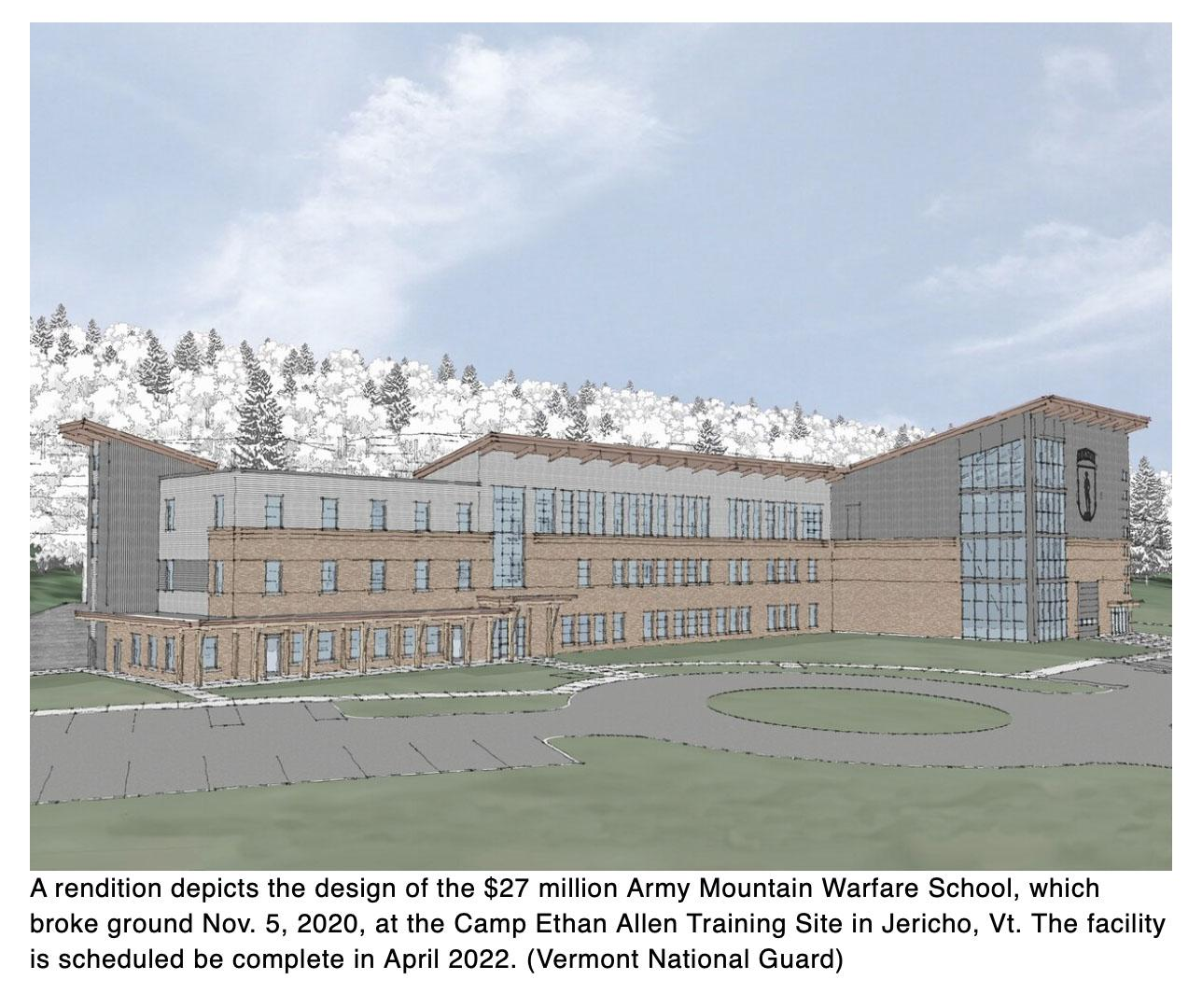 Vermont National Guard breaks ground on new mountain warfare school facility