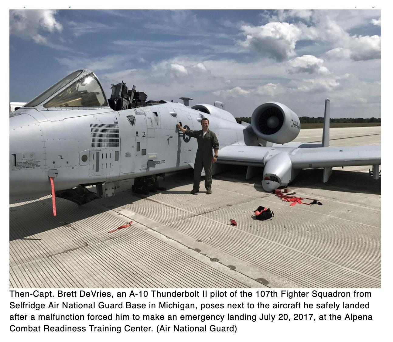 No wheels, no canopy, no problem: A-10 pilot who pulled off daring landing receives Distinguished Flying Cross