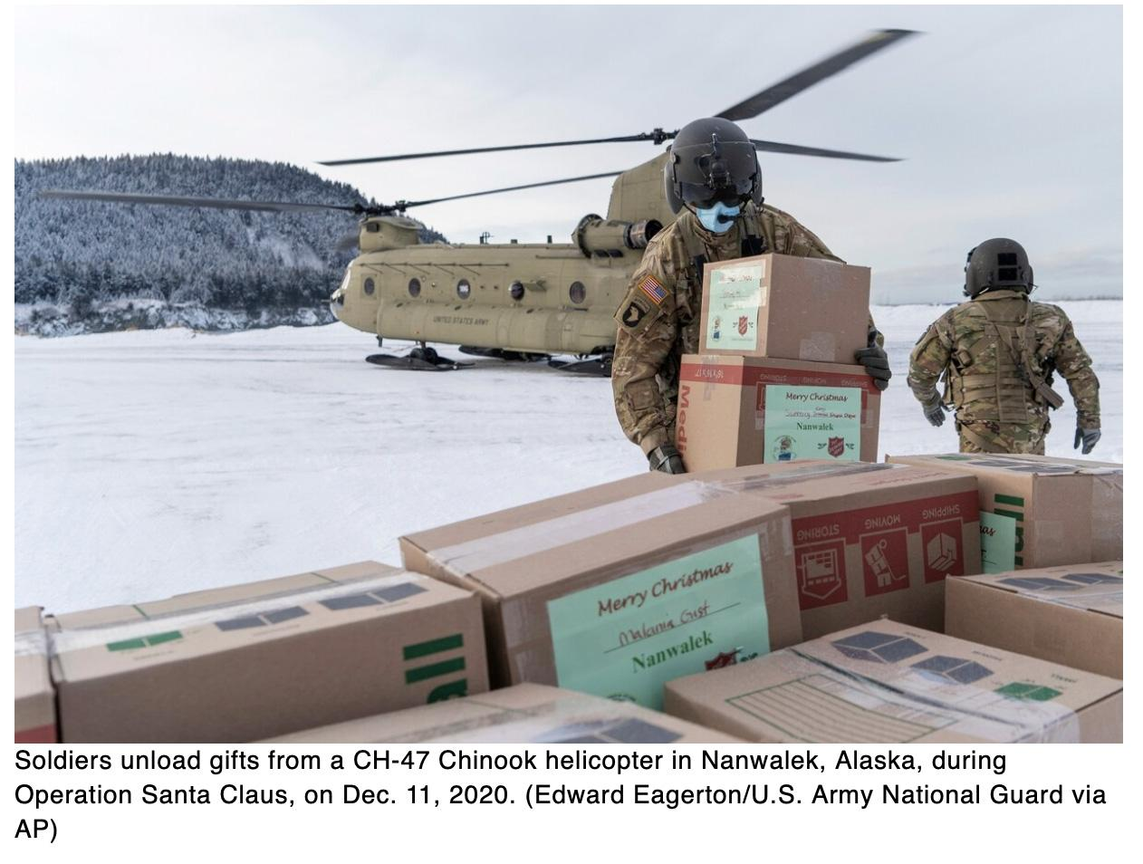 Pandemic prompts Alaska National Guard to scale back Operation Santa Claus