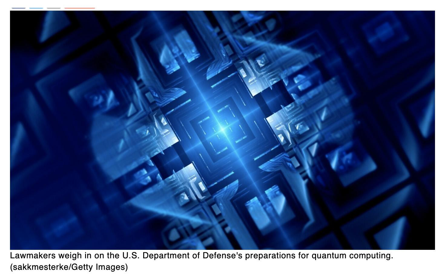Defense Department must determine the threat from quantum computers