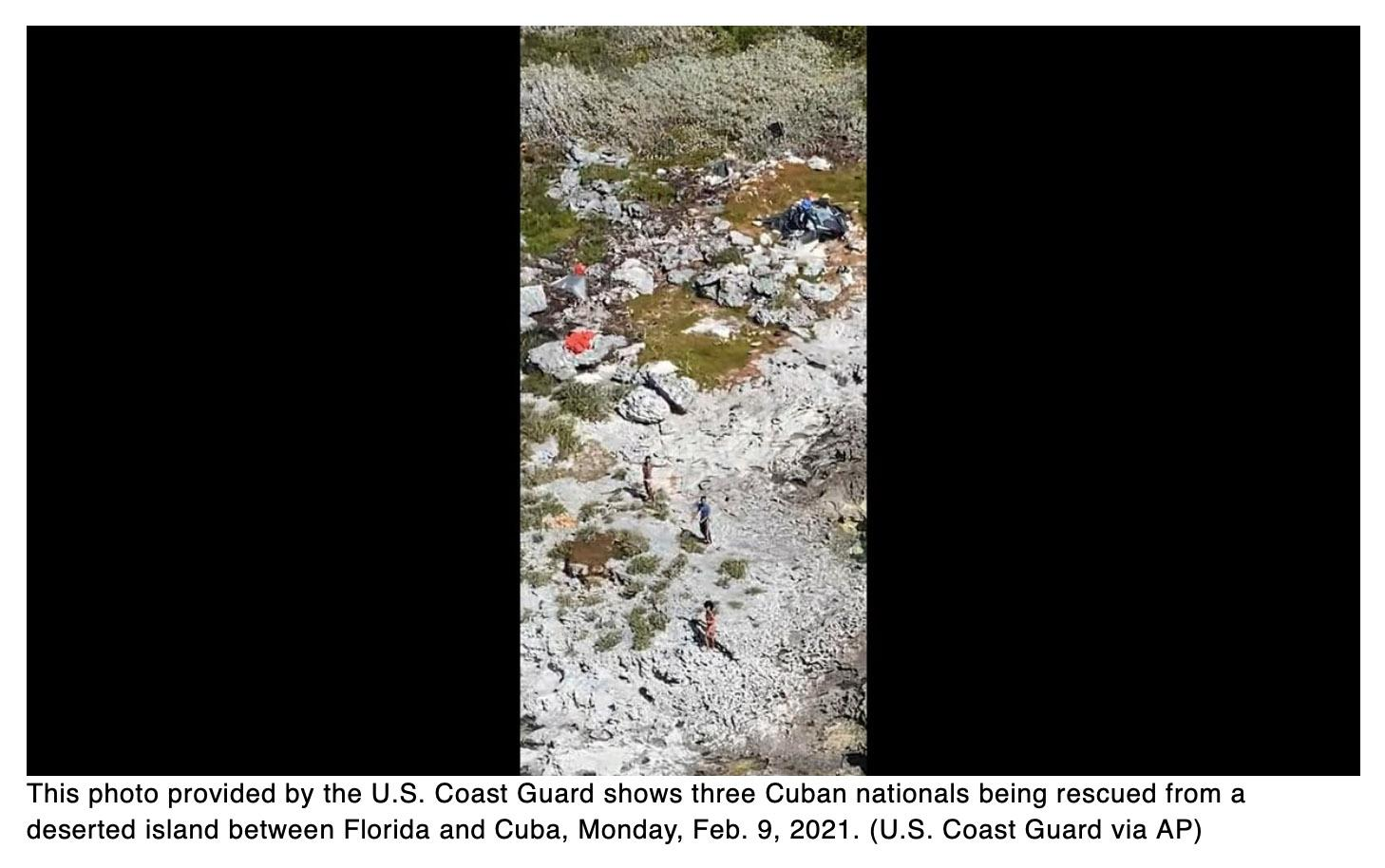 Coast Guard rescues 3 Cubans stranded on island for 33 days