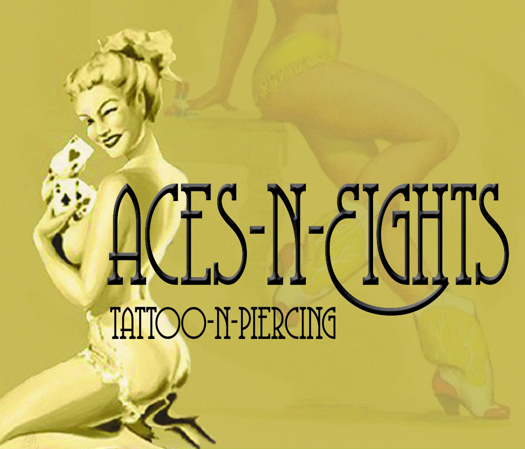 Logo: Aces N Eights Tattoo